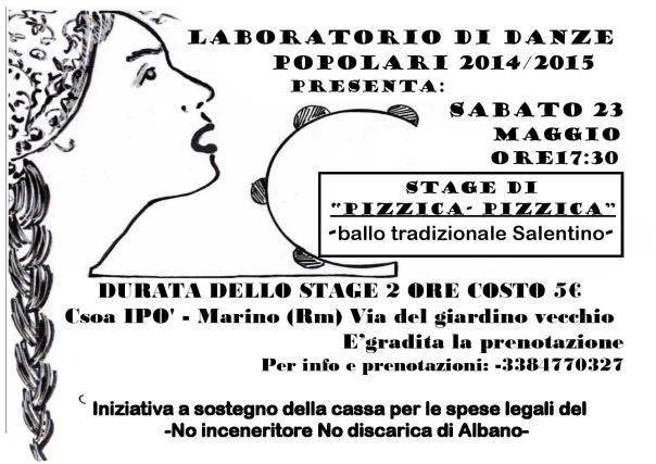 Stage di pizzica Ipò sab 23 maggio 2015