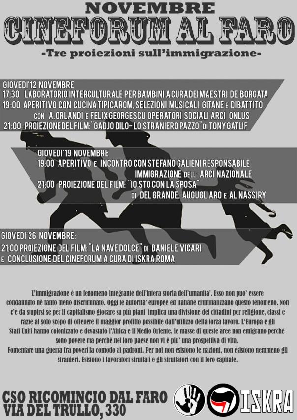 CINEFORUM DI NOVEMBRE12